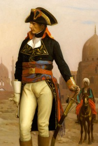 Napoleon camping in Egypt