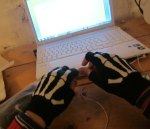 and a further mystery: how did I take this picture of my bony gloves? I now mostly use my laptop for warmth.