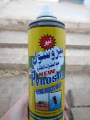 Dirty bomb: Egyptian fly spray