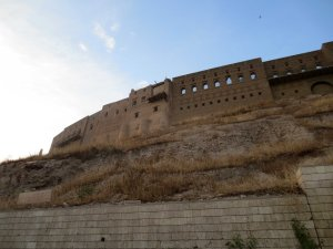 The beautiful ancient citadel of Erbil, which we completely failed to visit. It uncomfortably reminded me of my doctoral thesis, in which it featured.