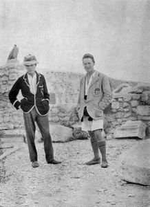 Woolley and his chum Lawrence of Arabia totally pulling off a bit of Edwardian sports casual