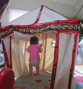 I brought a miniature tent from Cairo. If only it could be properly sound-proofed. And locked.