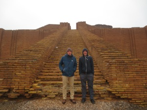 That wet ziggurat smell: S and D at the foot steps wanting to go home