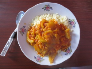 Rice and red: courgette variant