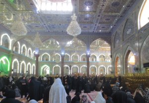 Abayas are very on-trend at the Imam Hussein mosque