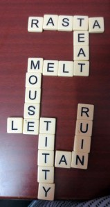 One of my tamer Bananagrams wins
