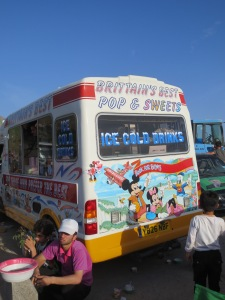 Brittain's best ice cream van, discovered unexpectedly near the Iranian border with a valid UK tax disc and all