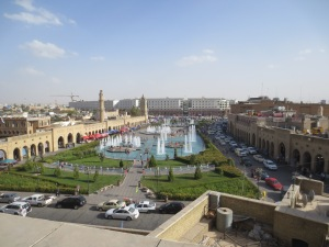 Erbil can seem quite tranquil from a distance and without shouting at you in Kurdish about pottery