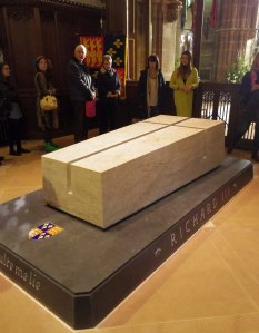 Richard III's tomb. Just the right height for a nice little sit down