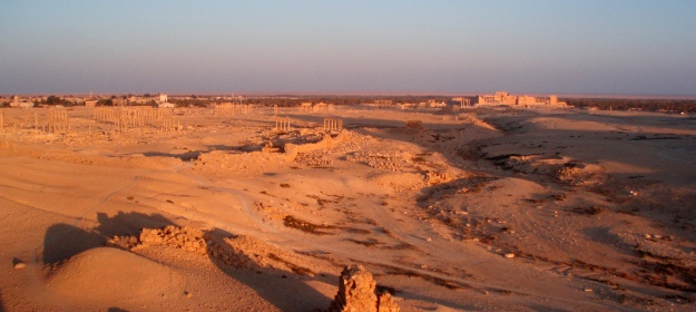 Dying light over the city of Palmyra