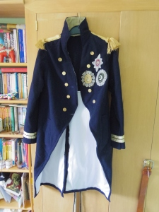 Luckily, I'd already made a naval captain's uniform during a previous bout of insanity. I think I shall use it on the boating lake