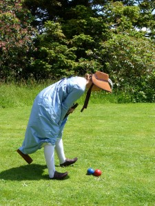 I solve the croquet/dress problem by tucking my petticoats into my stockings